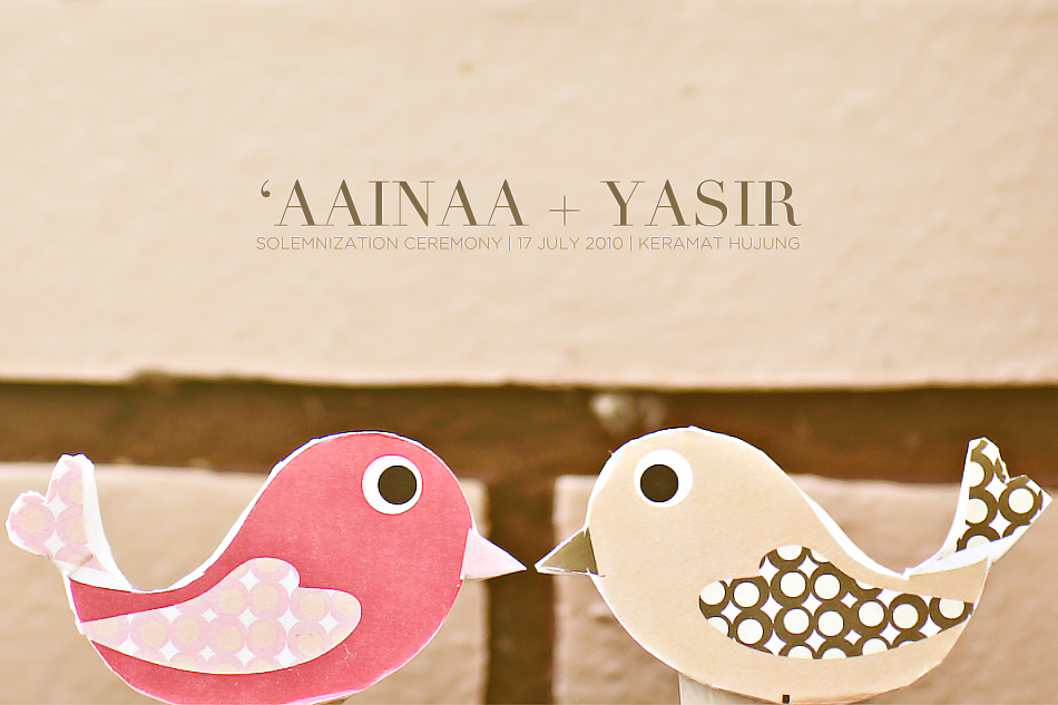 Aainaa + Yasir by Kudegraphy Solemnization 00 'AAINAA + YASIR | CHAPTER I